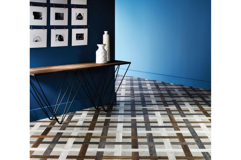Amtico basket weave  flooring design.