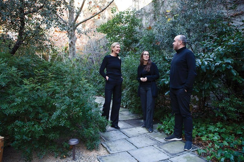Getting their day in the sun: 2019 Mies Award chair Dorte Mandrup, left; Anna Ramos, centre, and Ivan Blasi, right.