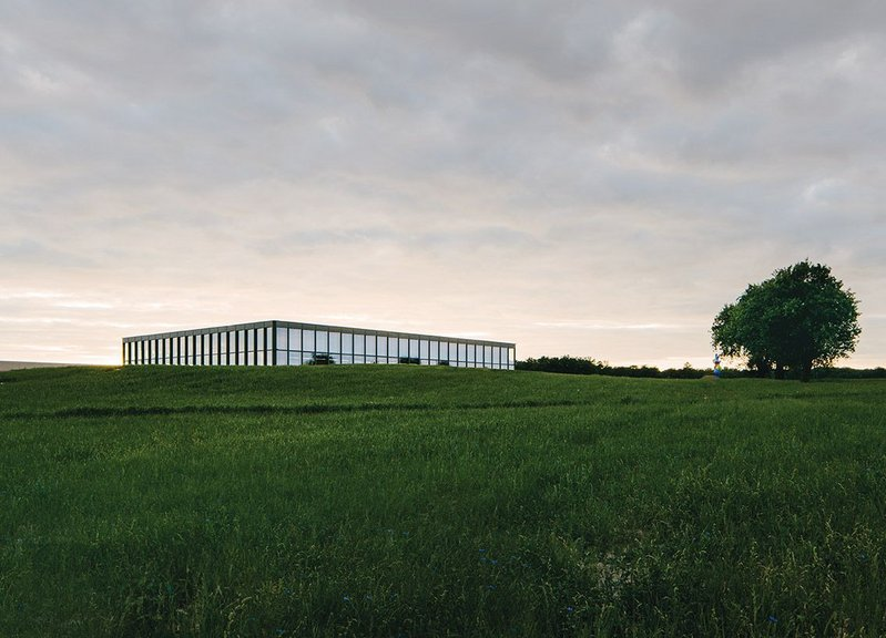 The Carmen Würth Forum looking south west: a temple to music set in an Arcadian landscape?