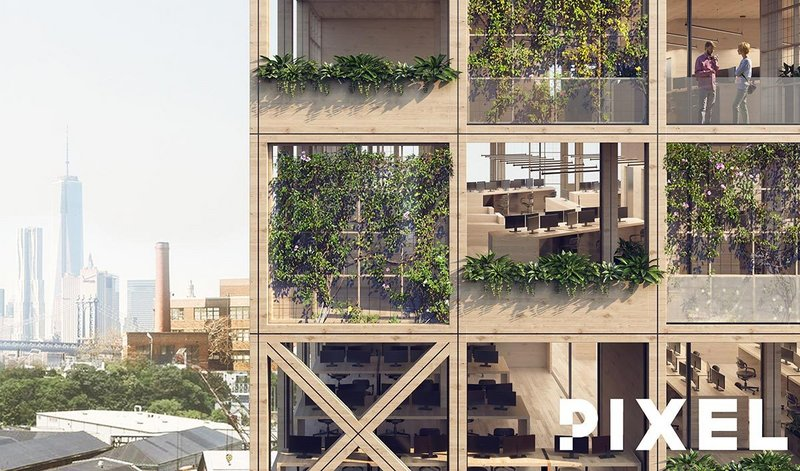 This facade system accommodating biophilia in a kit of parts is an innovation from PIXEL, co-founded by Rising Star shortlisted Oliver Thomas.
