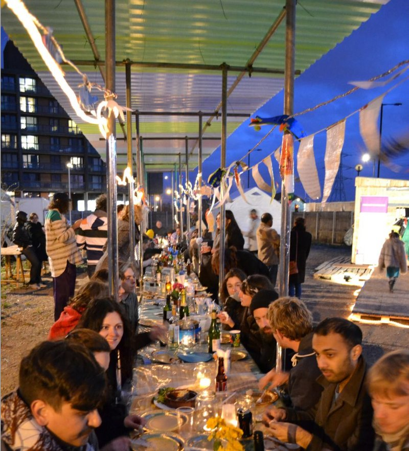Canning Town Caravanserai community feast.