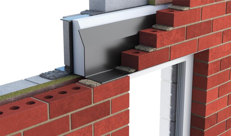 Catnic thermally broken lintels: Providing a complete thermal break between inner and outer leafs with no brackets for outstanding thermal performance.
