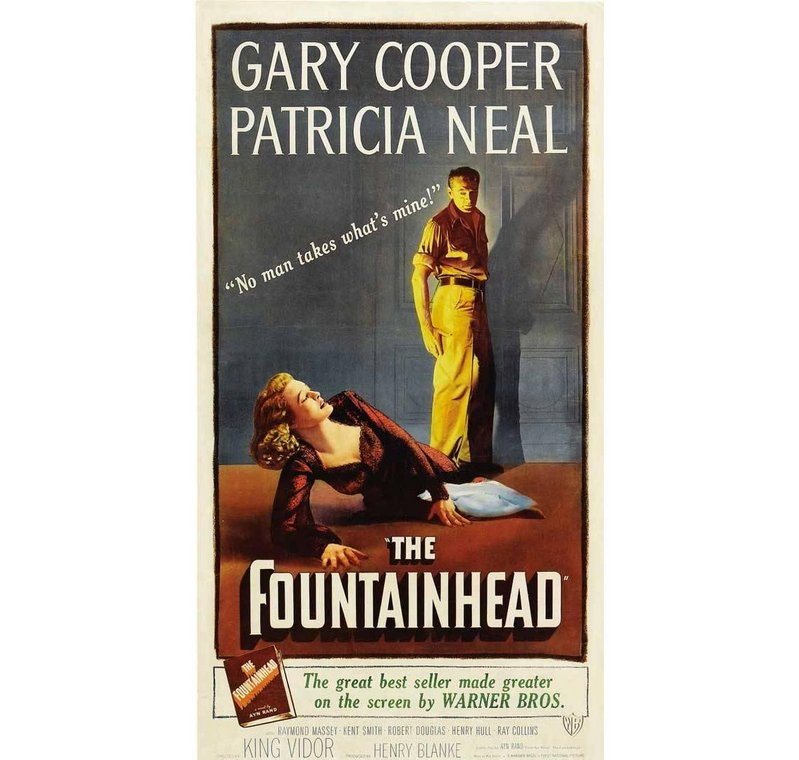Film poster for The Fountainhead.
