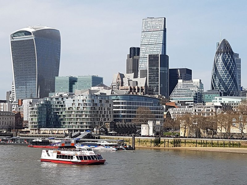 City of London's tall buildings.