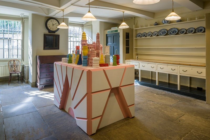 The Roman Singularity, created by Adam Nathaniel Furman, is located in the Soane Museum's basement kitchens.