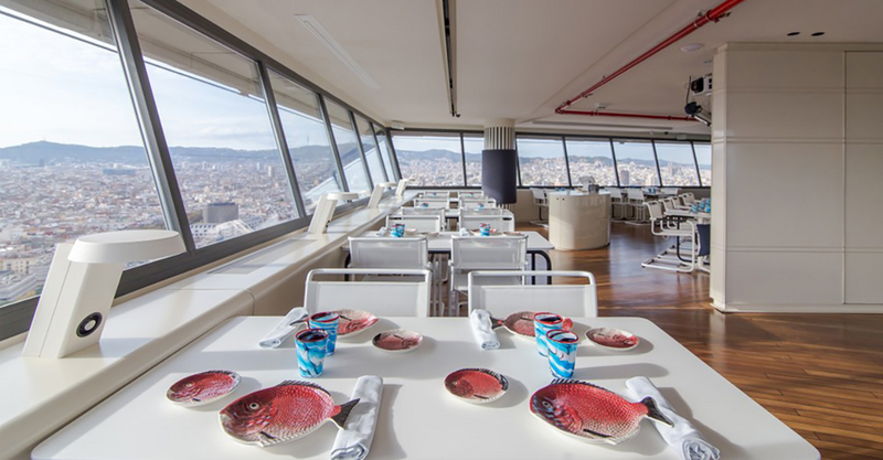The new Marea Alta restaurant in Barcelona has 360-degree views.