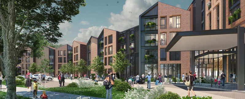 Turned down: Guild Living's project by Marchese Architects has been refused planning in Walton-on-Thames.