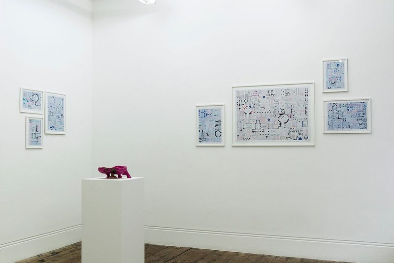 Sam Jacob Empire of Ice Cream exhibition view. Courtesy Betts Project