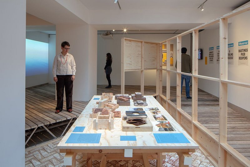 Installation view of Making it Happen – New Community Architecture, an exhibition at the RIBA.