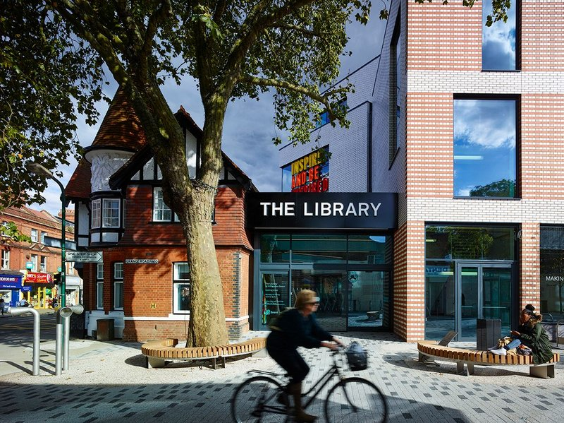 The Library at Willesden Green London by AHMM