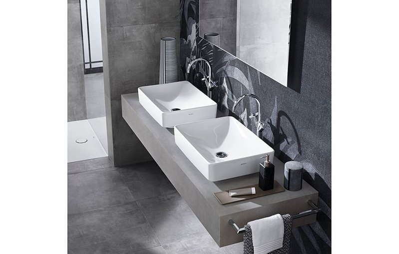 Geberit's Variform washbasins, made with a high-quality, scratch-proof ceramic that's smooth to touch.