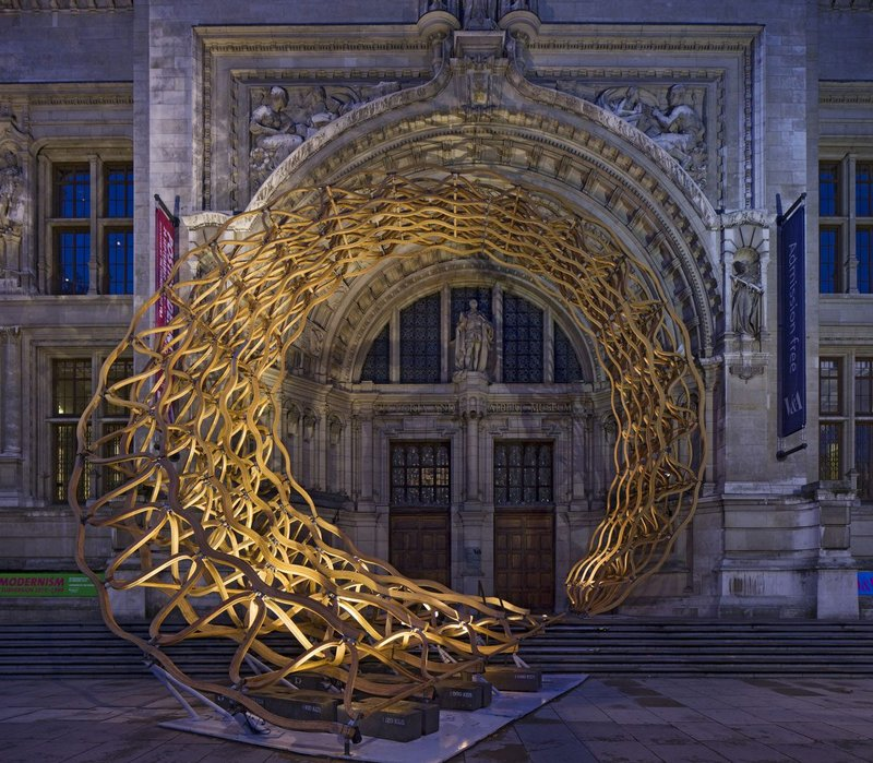 Timber Wave installation for the 2011 London Design Festival by AL_A.