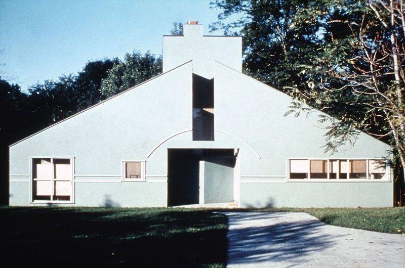 The Vanna Venturi house by Robert Venturi, 1962-64, helped redefine suburbia.
