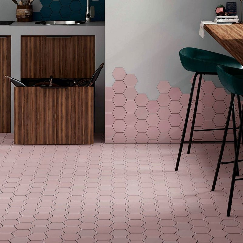 Kromatika by Equipe Ceramics has a matt finish that gives a contemporary look to a porcelain tile.