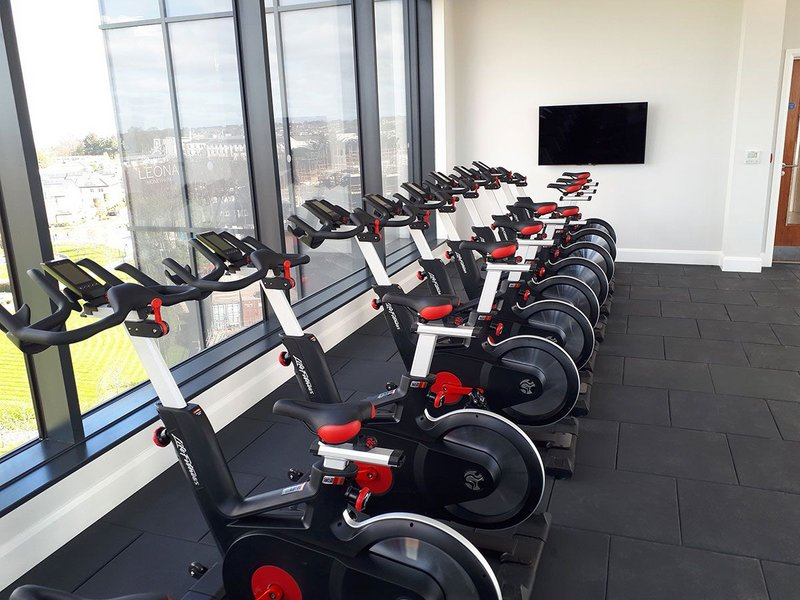 Gerflor Powershock 300 flooring has been fitted at the gym facilities on the top floor of the Honeypark development, Dublin.