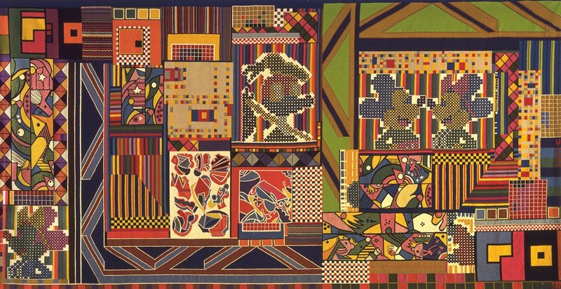 Eduardo Paolozzi, The Whitworth Tapestry, 1967, wool, linen and terylene