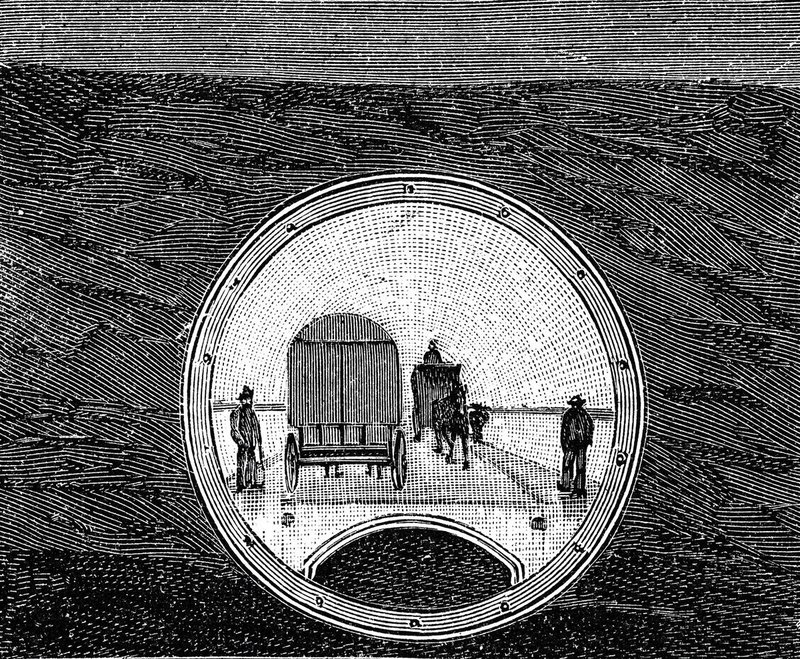 The original Blackwall Tunnel in the making as Thames Tunnel.