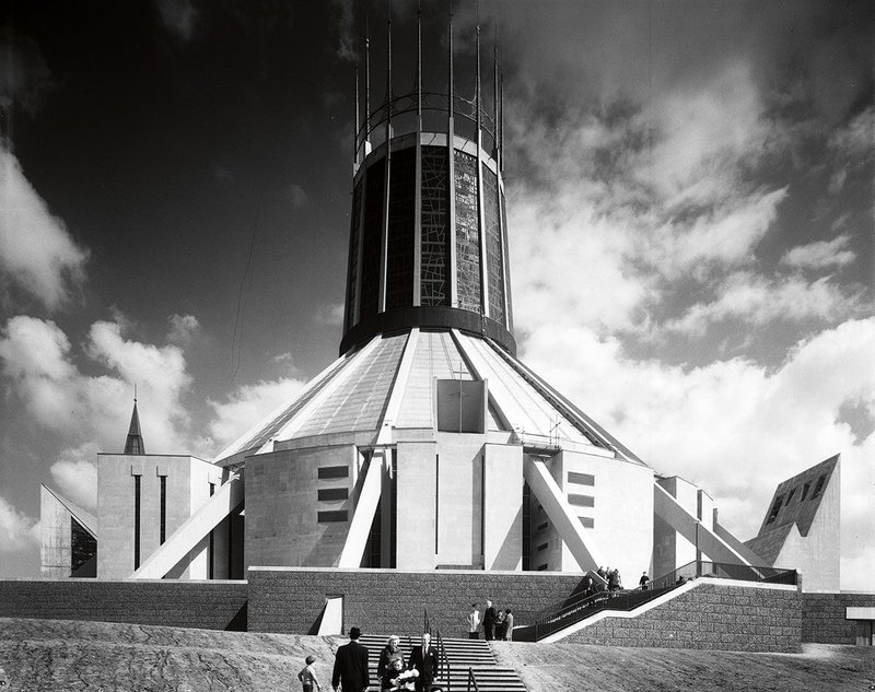 Liverpool Metropolitan Cathedral. Tarn worked with the Art and Architecture Department of the Roman Catholic Archdiocese.