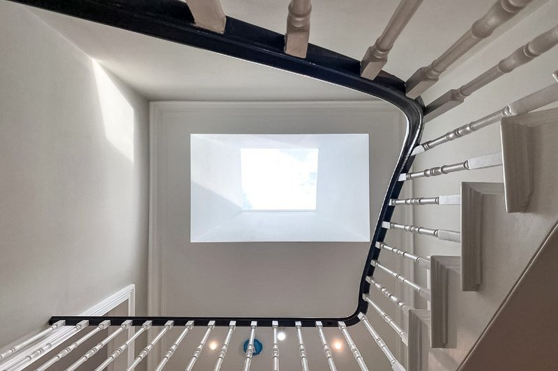 Neo rooflight in the main stairwell of the refurbished property in St John's Wood.