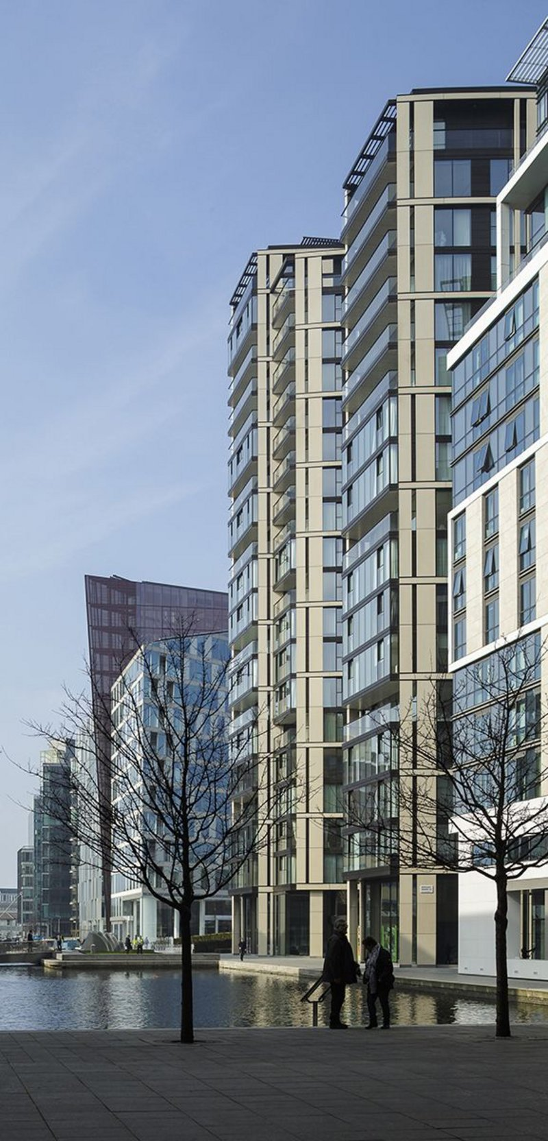 Robin Partington & Partners' 3 Merchant Square at Paddington. Mark William-Jones was the project architect on the 21-storey tower for four years.