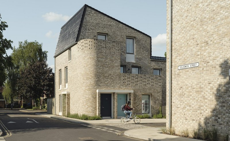 Stirling Award-winning timber frame housing, Goldsmith Street, Norwich, by architects Mikhail Riches.