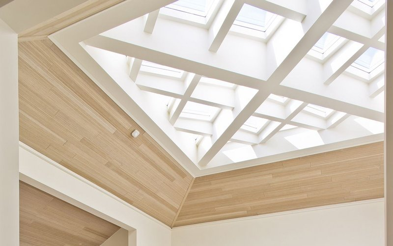 The Rooflight Company's bespoke solution for the project was a rooflight comprising 12 opening sections orientated in four directions.