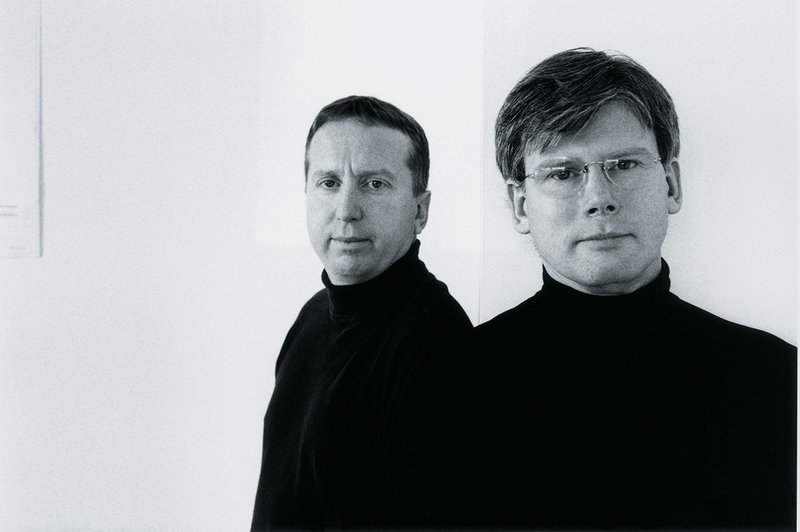 Bob Allies and Graham Morrison, photographed in the 1990s.