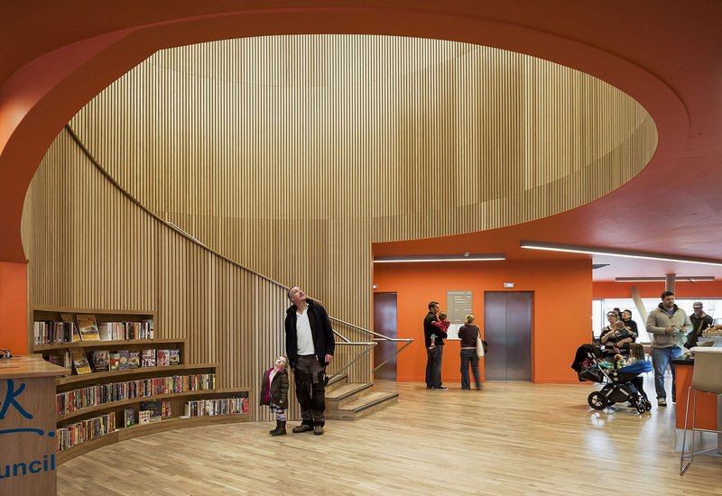 Winner of 2013's Selwyn Goldsmith Award for Universal Design, Canada Water Library, designed by CZWG.