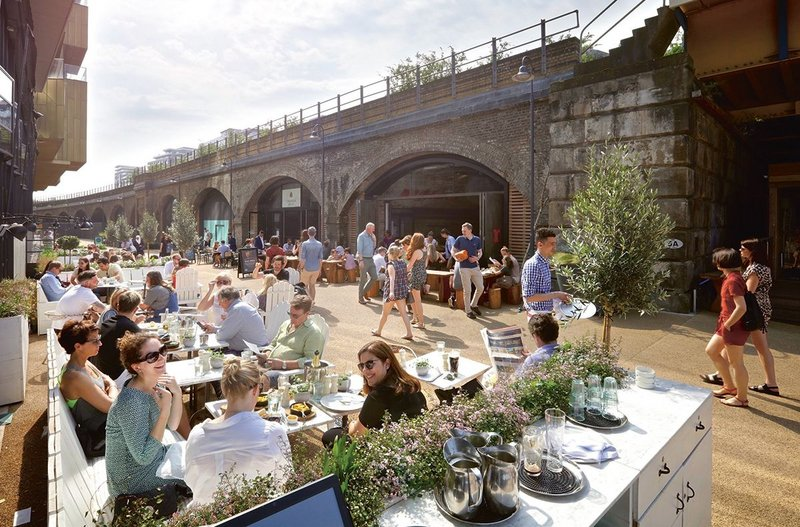 The railway arches have been converted into restaurants, cafés and an independent cinema.