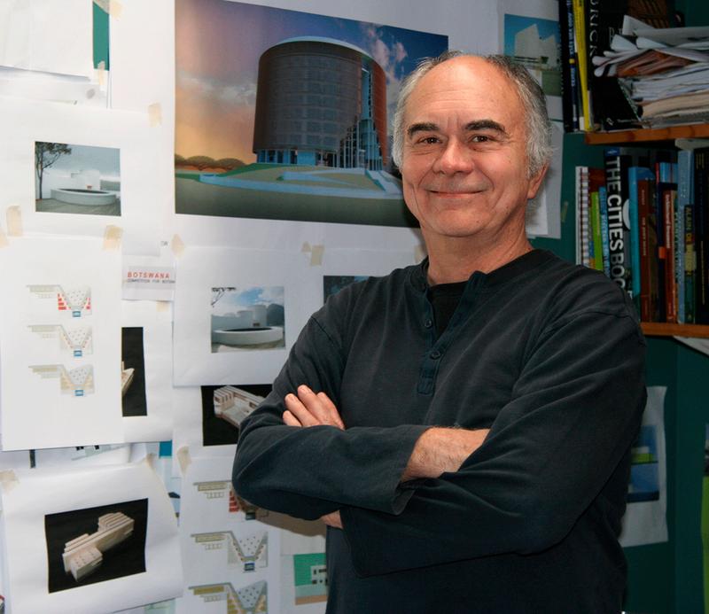 Joseph Noero in his studio in Cape Town, South Africa.