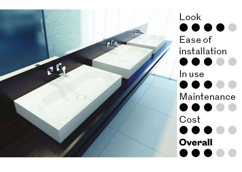 Sinks on countertop.