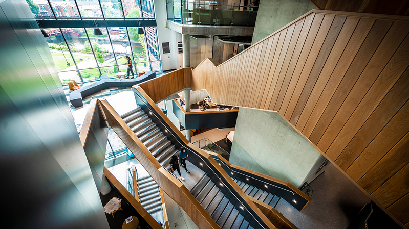 Vijay Patel Building at De Montfort University's Leicester School of Architecture: Challenging apprentices to develop a personal stake in the architectural world.