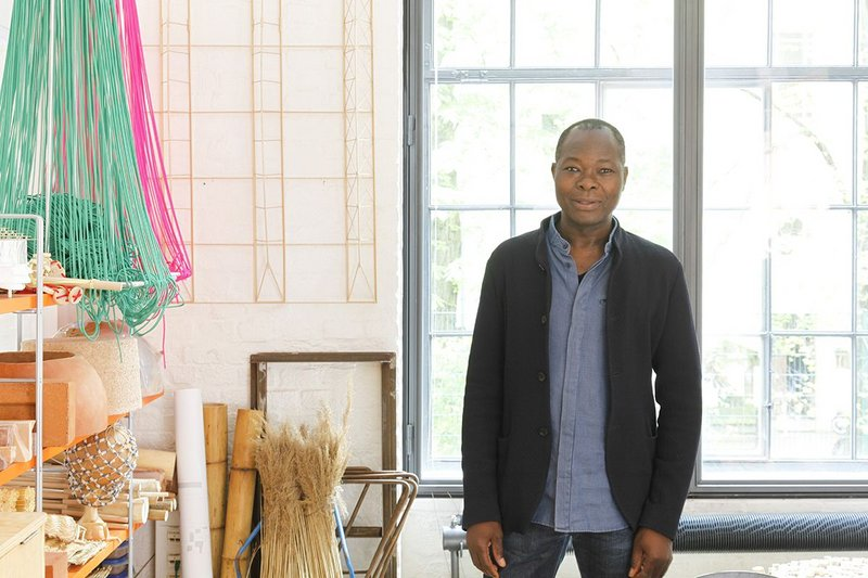 Diebédo Francis Kéré in his studio in Berlin.