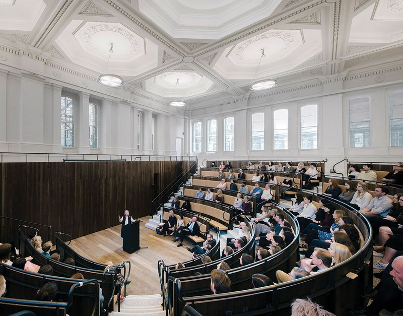 The Benjamin West lecture theatre.