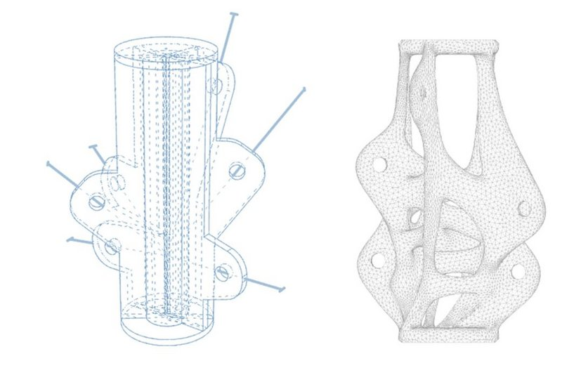 Arup's research showed how the weight and resulting cost of steel structural components can be reduced significantly through additive manufacturing.