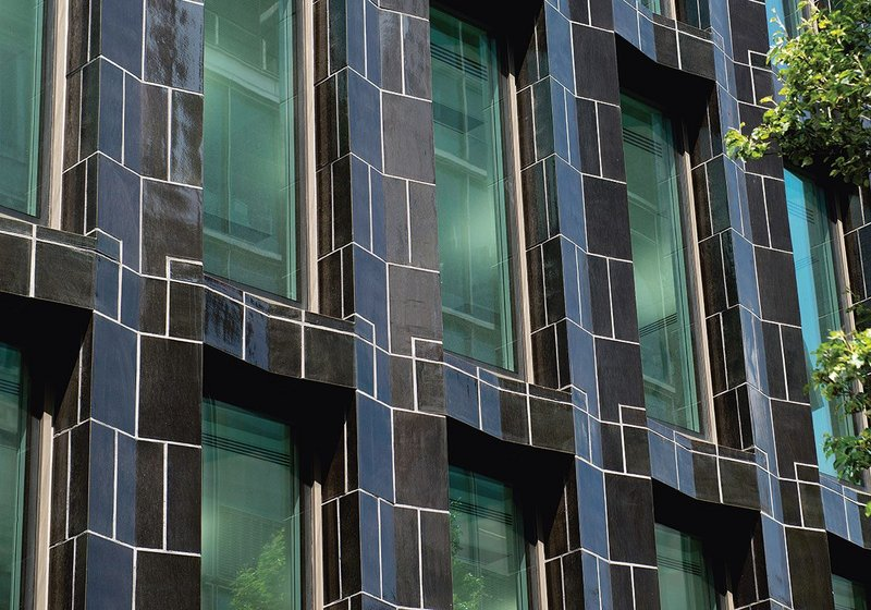 30 Broadwick's angular facade creates a highly reflective frame around the window sills and reveals.