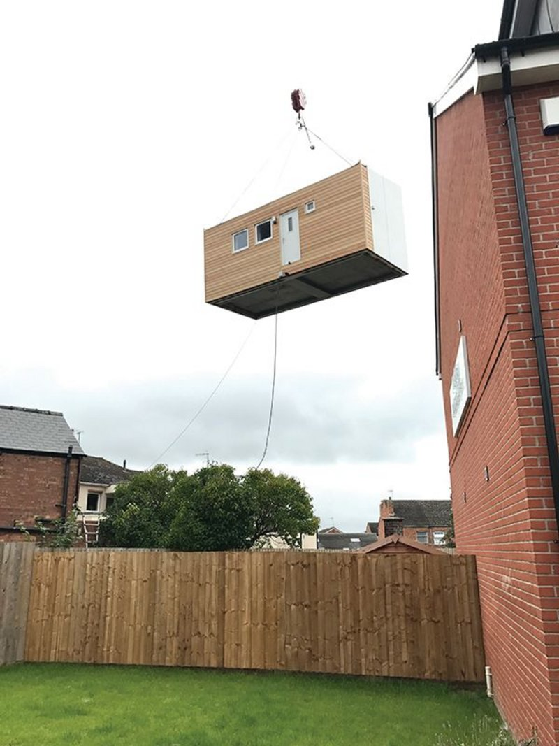 Craned onto site, iKozie provides independent living for a single homeless person.