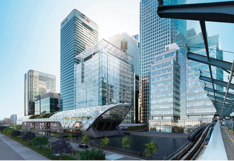 Canary Wharf Crossrail station.
