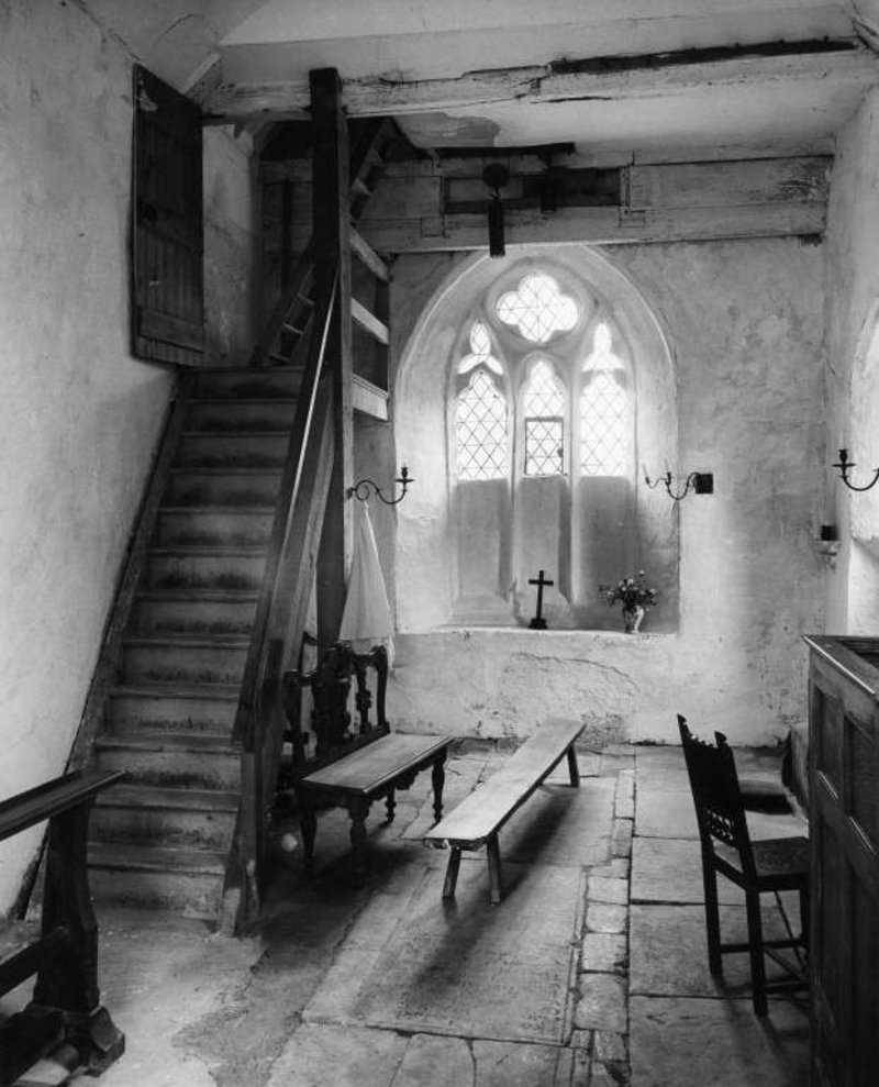The book English Parish Churches took Smith's photographs into many homes. Here St Lawrence, Didmarton, Gloucestershire, is beautifully composed (1961).
