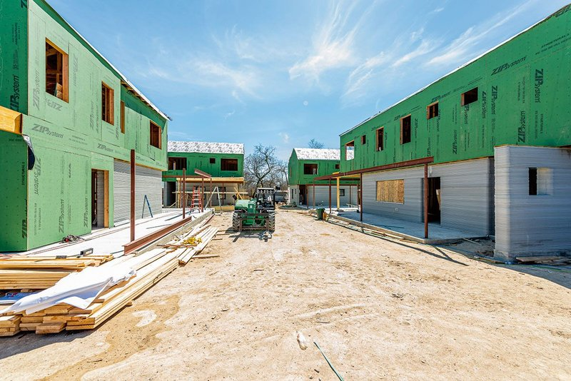 Vulcan printed the lower storey walls for the 3 Strands development in Texas.