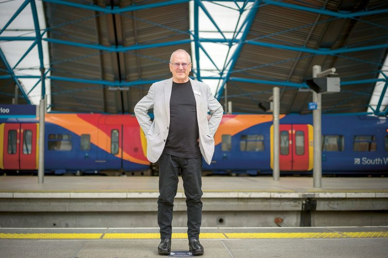 Hendy with the commuter trains at the normally-heaving Waterloo Station, London.
