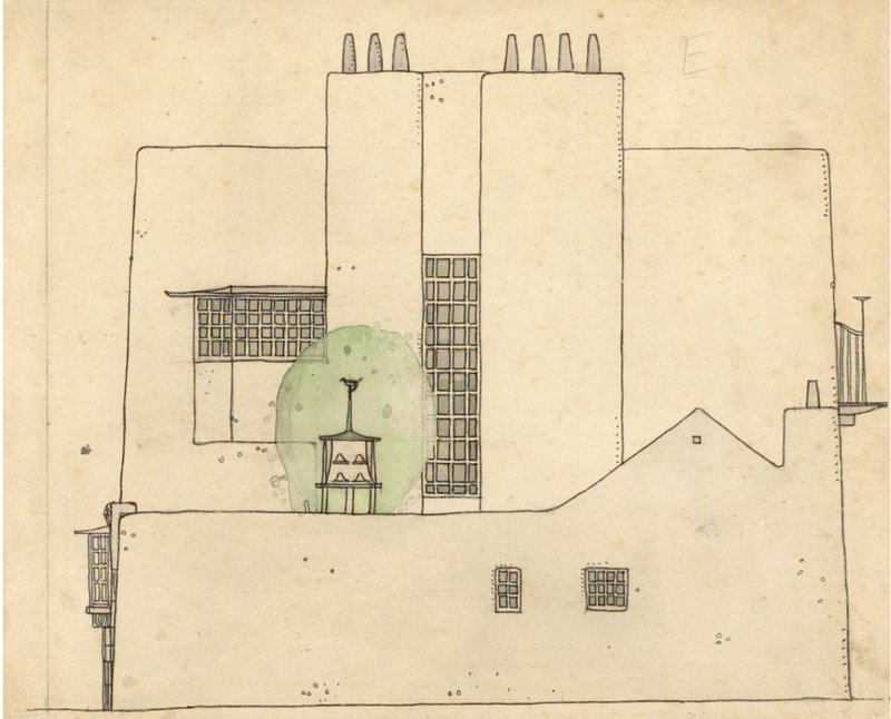 Artists house in the country by Charles Rennie Mackintosh