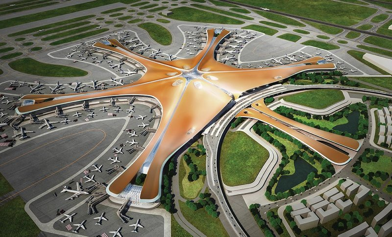 Beijing Airport drawn up with a multitude of parameters and algorithms, and some strong design.
