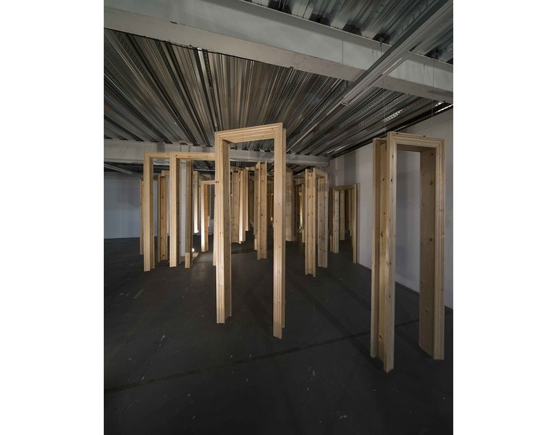 Sean Griffiths: Piece for 53 Door Frames and 10 Mirrors.