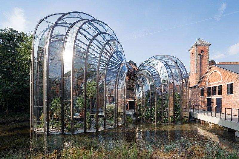 Picking up from Paxton. Heatherwick's two botanicals  glass houses