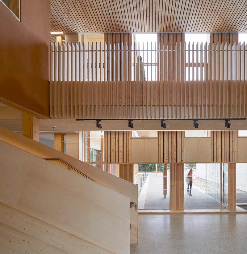The beautiful calm of connective space at Architype's UEA Enterprise Centre, Norwich.