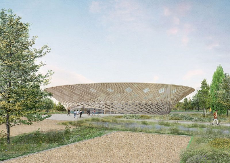 The runner-up competition entry for Johnson Matthey Innovation Centre in Sonning.