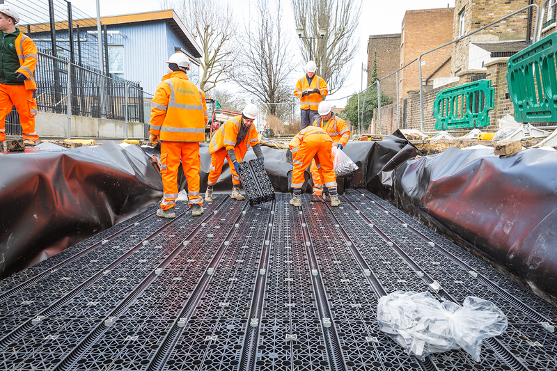 Polypipe's Permavoid system is suitable beneath asphaltic, block-paved or concrete pavements and for the full range of traffic conditions from domestic driveways to highways.