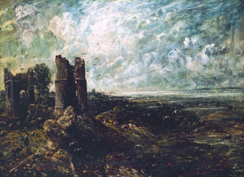 Sketch for 'Hadleigh Castle' by John Constable, 1828-9.