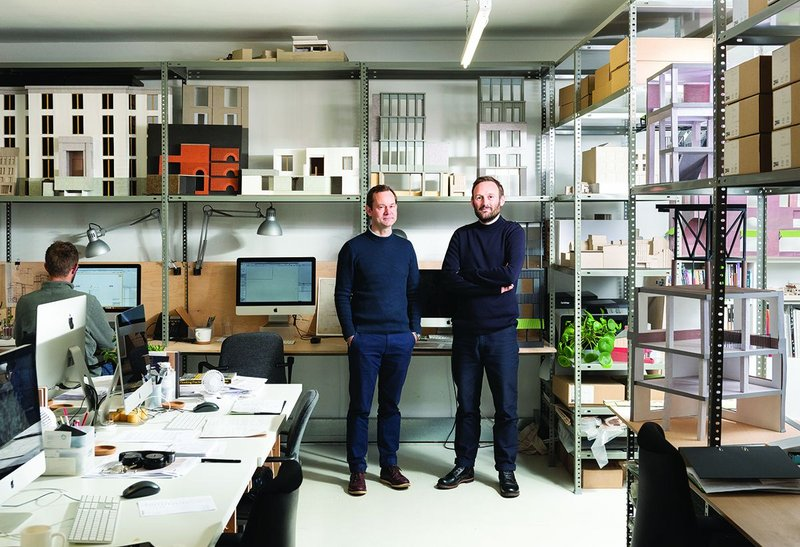 31/44 Architects' Will Burges (left) and Stephen Davies in their studio.